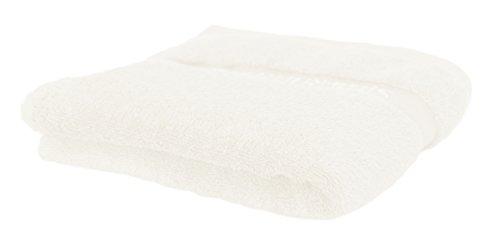 Und Weiße Badetücher Graue (Silberhertz Handtücher 50 x 100 cm I 100 % Baumwolle I Hygienischer als Mikrofaser I Schnelltrocknend I Super für Sport, Kinder & Babys I weiß/beige)