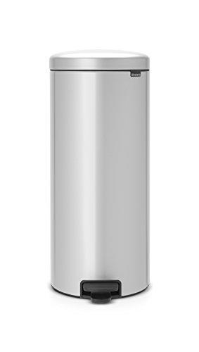 Brabantia NewIcon - Cubo de Basura de Pedal de 30 litros, Color Gris