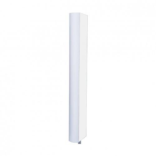 Jan Kurtz 180° Multi Tube L Regal mit Spiegel drehbar, weiß 51x190x20cm 5 Böden 4 Böden...