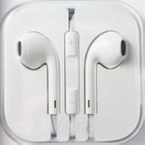 Auriculares cascos blancos con microfono control de volumen para móvil MP3