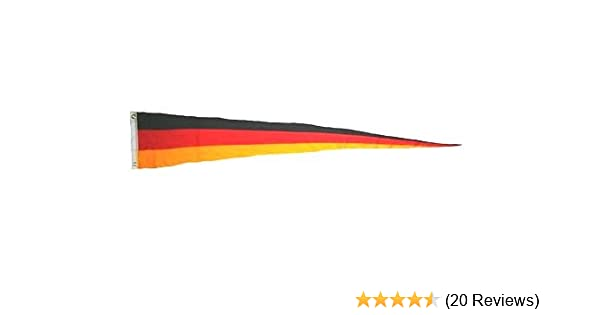 mit 2 Ösen 38 x 250 cm Langwimpel Fahne Flagge Deutschland