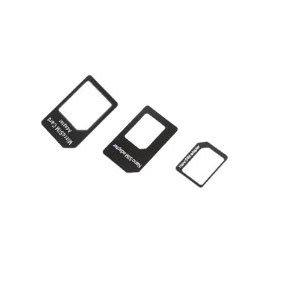 IRepair® 3en 1Adaptateur Nano Sim (Nano SIM vers Micro SIM Card + Micro SIM to Standard Card + Nano SIM Carte to Standard) Adapter Kit for iPhone 5/iPhone 4& 4S (Black)