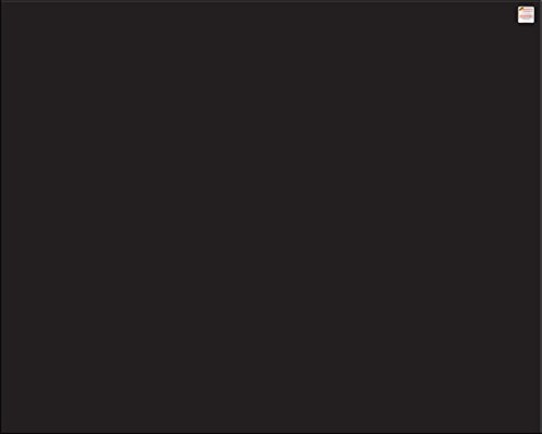Pantalla antisalpicaduras de cristal / Panel de vidrio templado para cocina, 75 x 60 cm, Negro