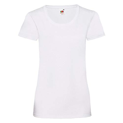 Fruit of the Loom - Lady-Fit Valueweight T - Modell 2013 XS,White