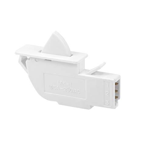 sourcing map Kühlschranktür Lichtschalter LTK-1 Momentan Eisschrank Schalter 1NO+1NC AC 250V -