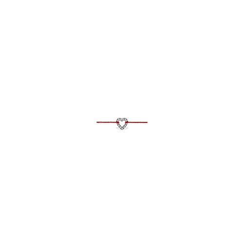 Ysora - Bracelet Or Gris Diamant Coeur - Diamant