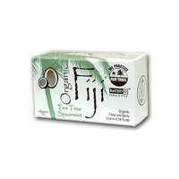 Tea Tree Spearmint Nourishing Cleanser for Face and Body 240gram Bar - 100 Percent Certified Organic Coconut Oil Soap ( Multi-Pack) by Organic Fiji