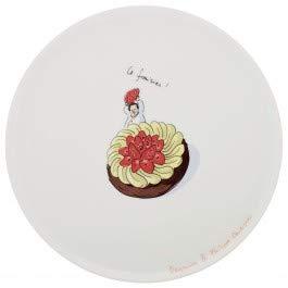 Degrenne - Plat à gâteaux en Porcelaine 32 cm - Conticini -