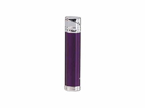 Feuerzeug Jean Claude Damenfeuerzeug Lea lila metallic/chrom poliert Piezo mit Kristallen