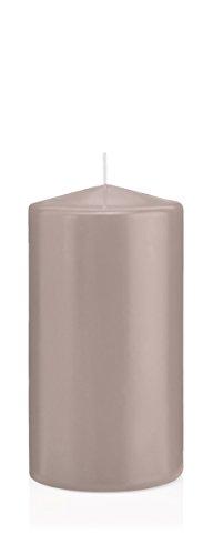 Stumpenkerzen Kerzen Silbergrau, Silbergrau 10 x 8 cm (H x Ø), 6 Stück, Wiedemann Kerzen, Markenkerzen Made in Germany in RAL Qualität