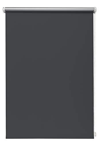 Thermo-Rollo Graphite 90x150 cm ohne Bohren Verdunkelungsrollo Seitenzugrollo Klemmrollo Blackout Silberbeschichtung