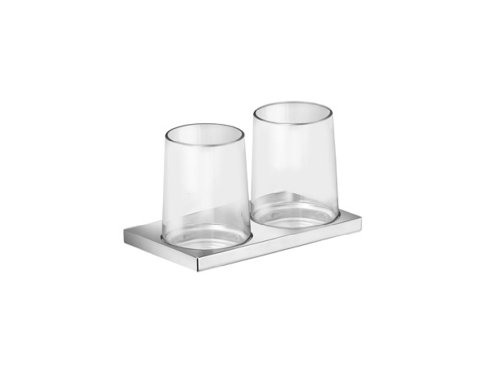 Keuco 11151019000 Holder for 2 Glasses with Real Crystal Glass Chrome-Plated