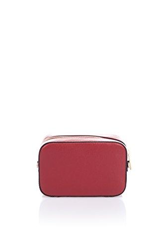Laura Moretti - Borsa in pelle con borchie (BORSA stile) Rosso
