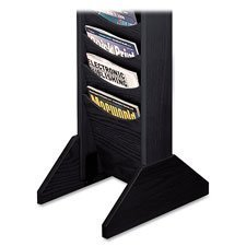 Buddy Products Single Wood Base for Literature Display Racks, 0.75 x 5.75 x 14 Inches, Black (0617-4) by Buddy Products -