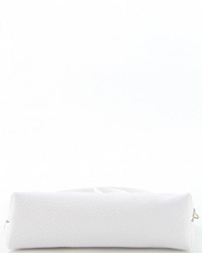 histoireDaccessoires - Pochette Pelle Donna - PO131623O-Madeline BiancoBianco
