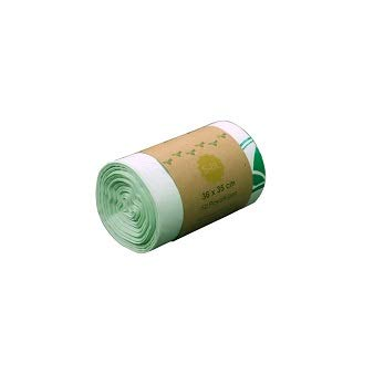 Bolsa de basura biodegradable 100% BIOARK, 5-6 litros, 50 unidades, extragruesa, biodegradable y compostable...