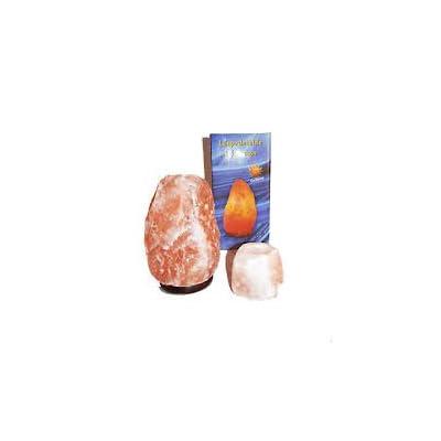 Lámpara de Sal Natural del Himalaya - 2/3 kg + Portavelas Regalo - Recomendado Feng Shui - MAGIC SALT LIGHTING FOR YOUR SOUL