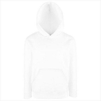 Fruit of the Loom - Classic Kinder Kapuzen-Sweatshirt 'Kids Hooded Sweat' 164,White
