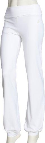 CURARE Damen long Pants, roll down, white, M, 9 (Roll-down-yoga-hosen)
