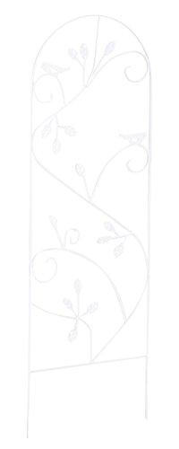 Treillis en métal coloris blanc - 120 x 40 x 5 cm -PEGANE-