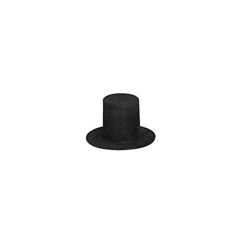 Rayher 3915101 Velour-Zylinder, 40 mm, SB-Btl. 2 Stück, schwarz