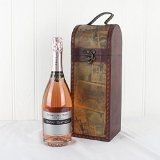 Happy Birthday Sparkling Rose Wine Premium French Sparkling Rose Wine 750ml in a Quality Wooden Replica Vintage Style Chest - Gift ideas
