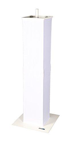 (Novopro PS1+ Weiß 35mm Moving Head/Podium Ständer mit Lautsprecher Adapter)