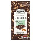 Nestle Les Recettes de l'Atelier Roasted Almonds Dark Chocolate Bar 115g