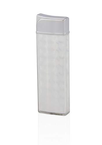 TESLA Lighter T12 | Lichtbogen Feuerzeug, Plasma Single-Arc, elektronisch wiederaufladbar, aufladbar mit Strom per USB, ohne Gas und Benzin, mit Ladekabel, Silber
