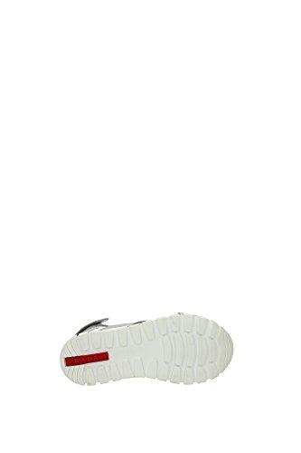 3X6020ARGENTO Prada Sandale Femme Cuir Argent Argent