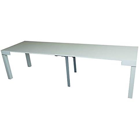 Tavolo consolle bianco allungabile frassino fino 3 metri Made in