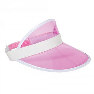 Pink Casino / Pub Golf Visor Hat Fancy Dress Adult One size Costume