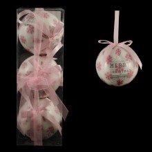ABM/boules 3 pièces rose