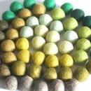 50Filzkugeln / Perlen Mix grün
