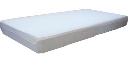 Inkontinenz Matratzenauflage, 100 x 200 cm, wasserdicht und atmungsaktiv, Spannbetttuch mit Oberseite aus 100% Baumwolle. Die Unterseite ist auf der Liegefläche mit atmungsaktivem PU beschichtet. Matratzenschoner, Matratzenbezug von Morgenstern