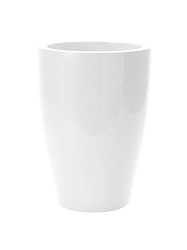 hydroflora 63001000 vaso Nicoli Tylus Gloss, diametro 30 cm, altezza 40 cm, bianco lucido
