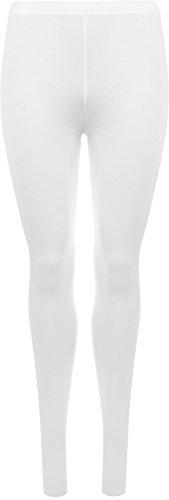 WearAll - Legging Cadrage s'étirer - Hauts - Femme - Tailles 36 - 38 Blanc