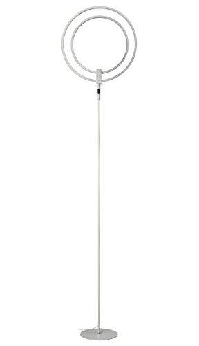 Stehlampe, PHIVE LED Stehleuchte, Höhe: 196 cm - Dimmbar Super Helle 28 Watt LED Deckenfluter, Licht Ringe Schwenk und Drehbar, Berührungsempfindliche 3 Helligkeitsstufen - 2800 Lumen, 3000 Kelvin warmweissem Licht - Zeitgenössisch Standleuchte
