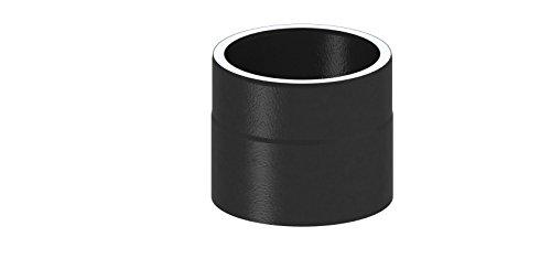Ofenrohr Längenelement doppelwandig, mit 150mm Länge, Ø 150mm Durchmesser; schwarz