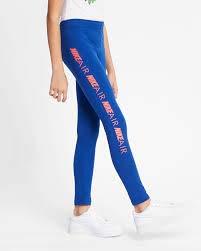 Nike Mädchen G NSW TGHT Favorites AIR Pants, Indigo Force/Ember Glow, L