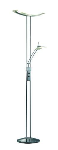 Trio Leuchten LED-Fluter in Chrom/Aluminum, Glas weiß satiniert/klar, inklusive 3x 5W und 1x 5W LED, mit Dimmer, Höhe: 180 cm 425910406