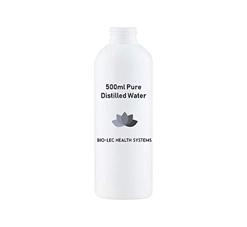 100% pure slow steam distilled water of various sizes multi-purpose [food grade/medical grade/bpa free] by bio-lec health systems® (500ml)