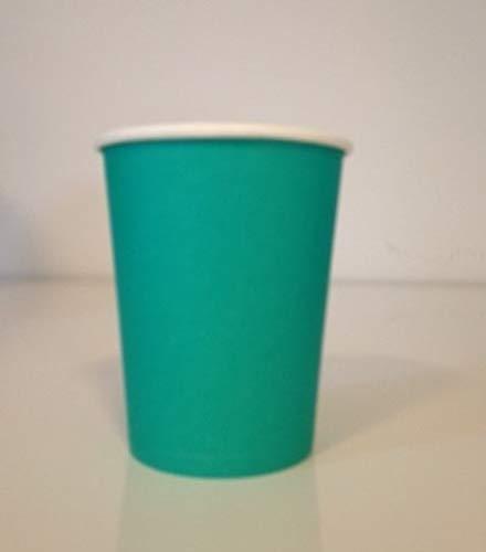 Adiserve 50 Gobelets en Carton Couleur Turquoise 24 cl