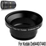 Digital Camera Adapter Tube Ring for Kodak DX6440/DX7440 (Black) by TRJAQB Kodak Tube