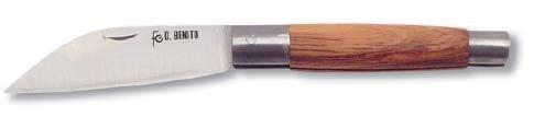 Flores Cortés Couteau à Double Virole avec Pointe Droite en Acier Inoxydable Lame DE 90 mm