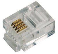 LogiLink Professional MP0018 RJ11 Stecker für Flachbandkabel Ungeschirmt