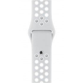 APPLE Cinturino Nike Sport platino/bianco (38 mm) - S/M e M/L