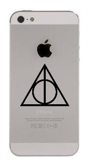 Harry Potter Reliquias muerte iPhone 5 Skin sticker-black