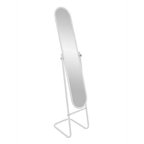 Harbour Housewares Miroir sur Pied Arrondi - Blanc