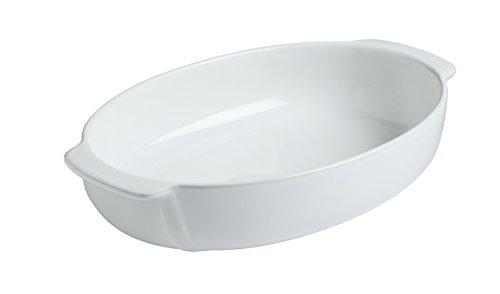 Ovale Auflaufform Pyrex (Pyrex 8013107.0Signature Auflaufform, oval, Keramik Steingut weiß 25x 18cm)
